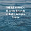 Friends of Lake Wingra is now hiring!