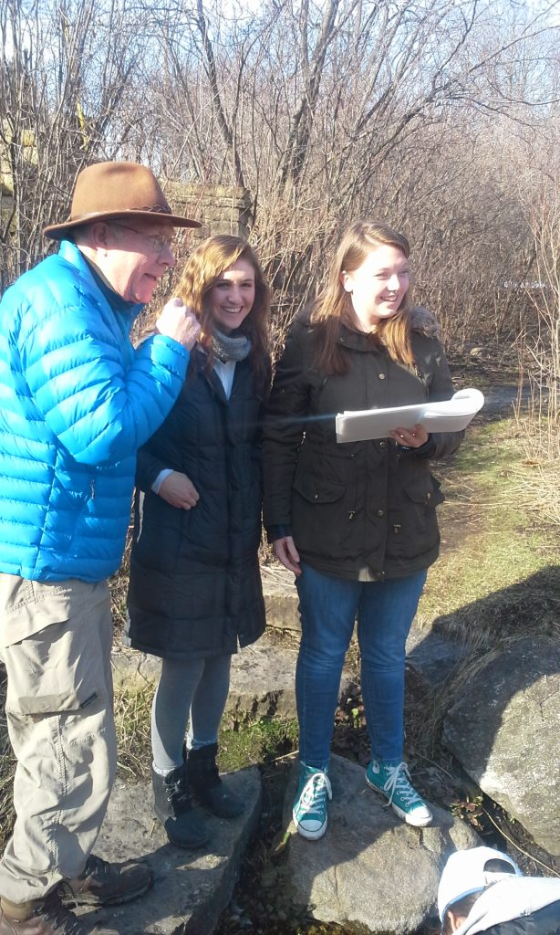Roger working with Badger Volunteers to monitor chloride at the springs near Lake Wingra.